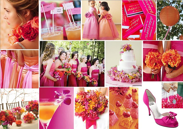 Fuschia and Orange Tropical Wedding Theme  Flickr - Photo Sharing!