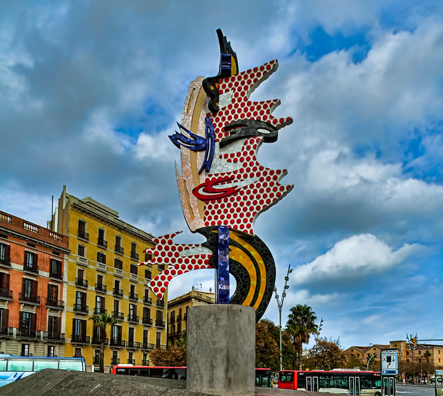 Barcelona Head by Roy Lichtenstein