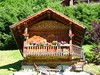 Little chalet bedecked with flowers in Chinaillon