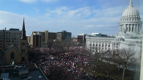 March 12, 2011 Rally Madison, Wisconsin from 8th floor, 3