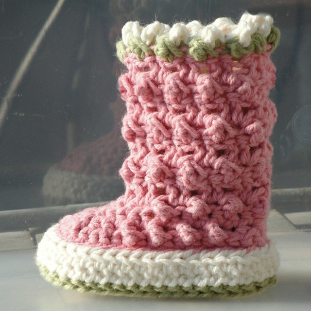 Crochet Pattern Baby Boots : Raindrop Boots Crochet Pattern for Baby Flickr - Photo ...