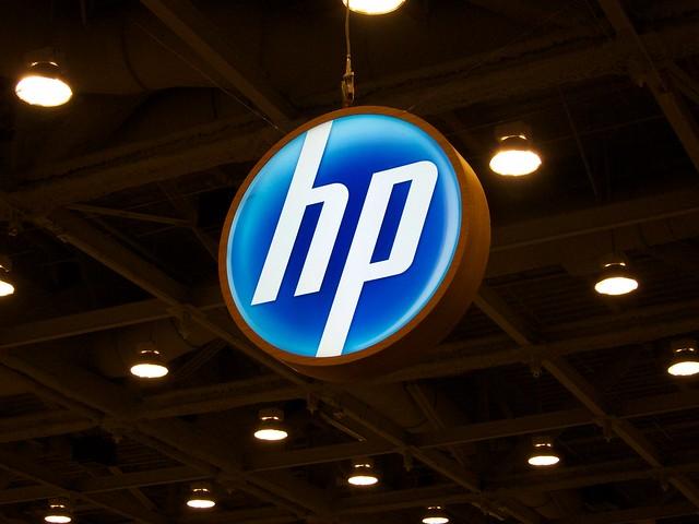 HP Logo at MacWorld 2011