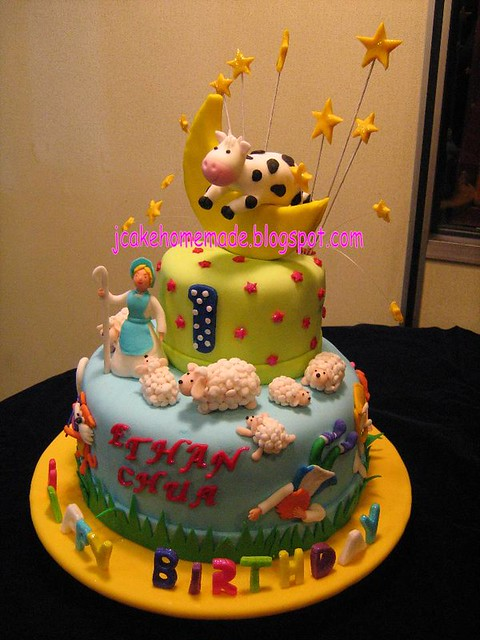 Nursery Rhyme Themed Birthday Cakes