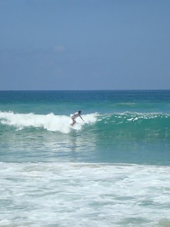 Surf in Bali (Indonesia) Dreamland beach.