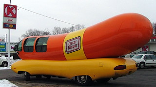 Wienermobile at Circle K in Clayton, OH