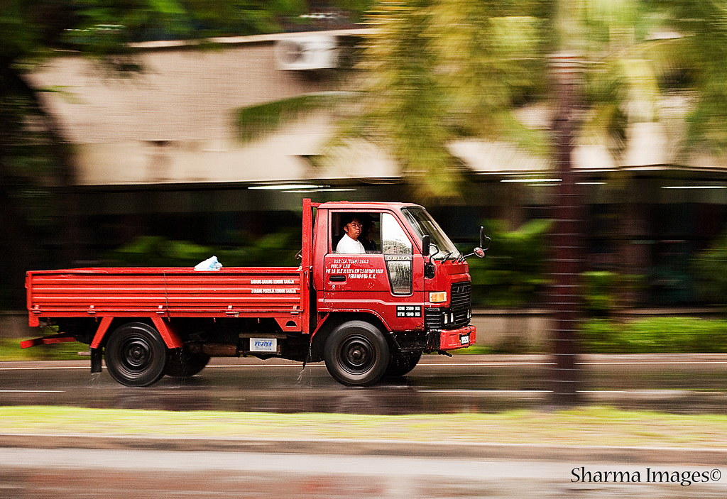 Lorry Panning Shot by Sharma D. Pillai