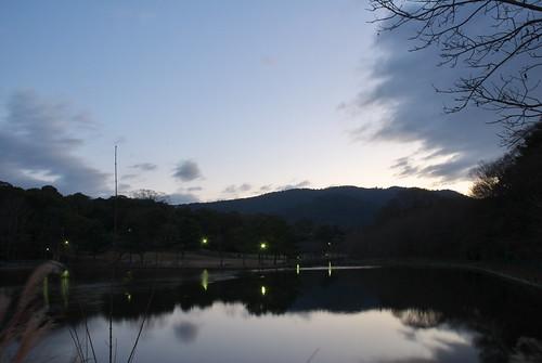 japan sunrise nikon nara 奈良 日の出 夜明け 荒池 ニコン d80