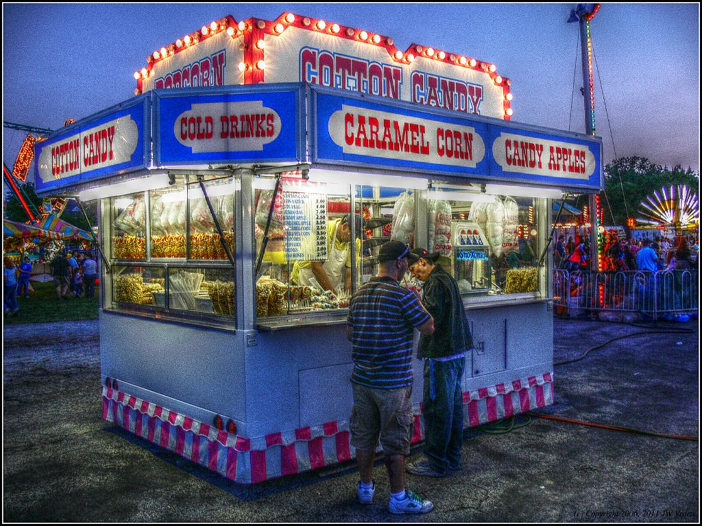 Cotton Candy Stand, Beamsville Fall Fair - HDR/Tone-Mapped