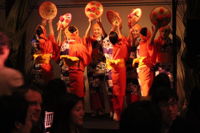 Japanese folk dance at Small Scale. Photo by Rebecca Bullene.