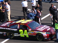Jeff Gordon doing an interview.