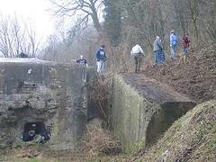 Removing vegetation near Bloc II