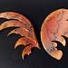"""""""Wing"""" Horsehair Raku Plate"""