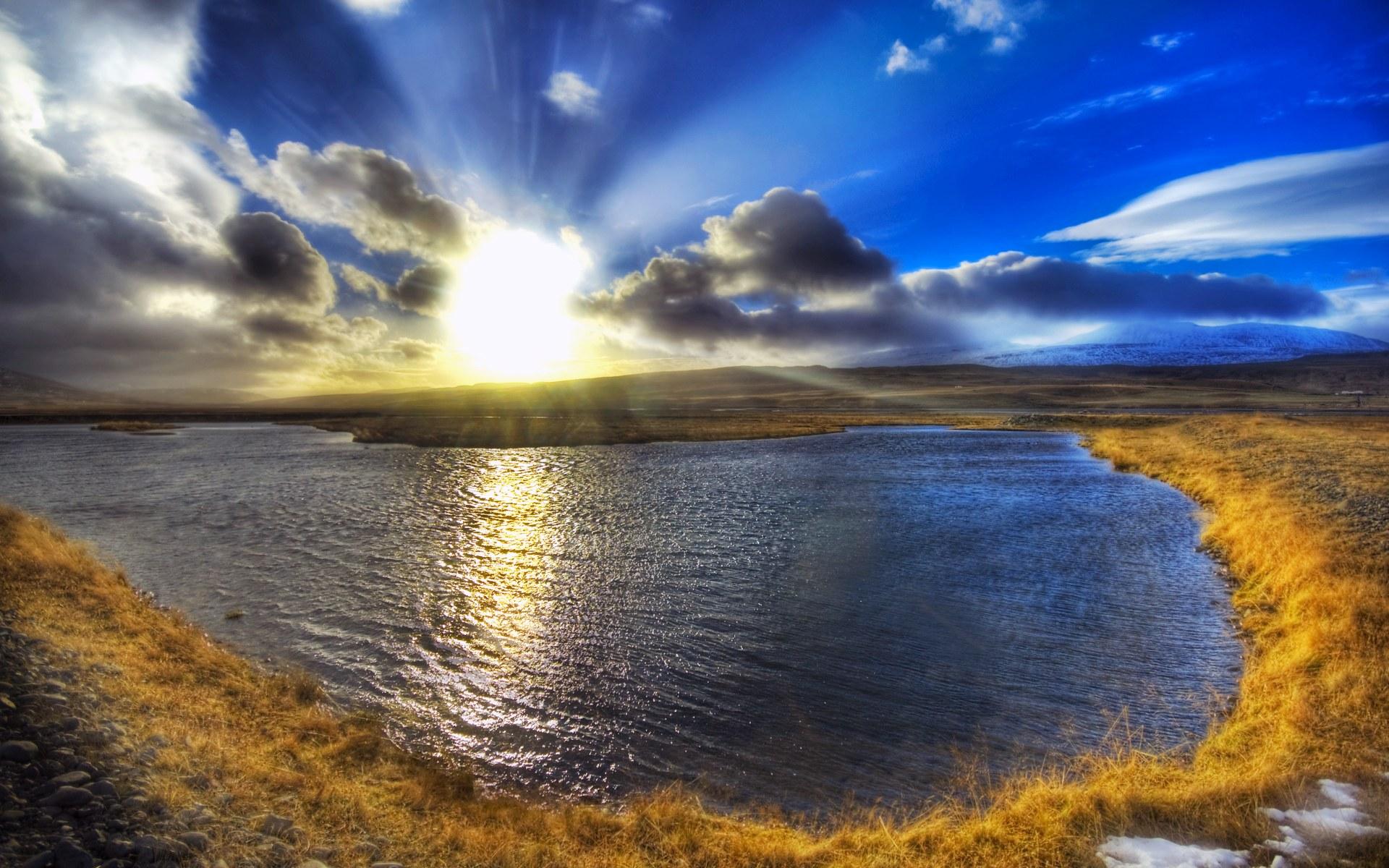 Природа исландии hdr