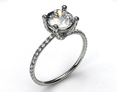 Moissanite Ladies Ring - FRG720