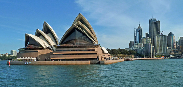 Sydney Opera House with Central Business District