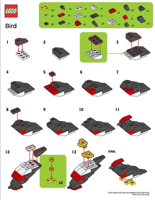 lego mmmb march 39 11 bird instructions flickr photo sharing. Black Bedroom Furniture Sets. Home Design Ideas
