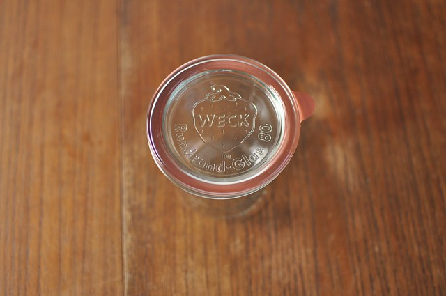 weck lid and ring on jar