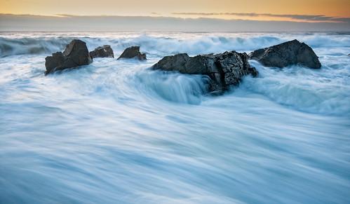 ocean sea seascape me rock sunrise way landscape dawn cove maine wave foam perkins ogunquit froth marginal