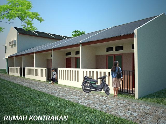 Desain Rumah Kontrakan Minimalis Modern Supplier Bata Ekspos