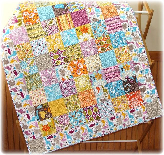 Central park patchwork fabric