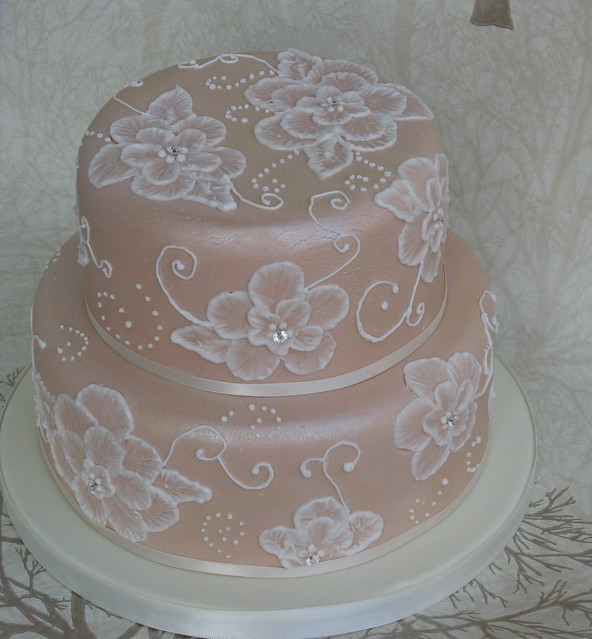 Brush Embroidery Cake  Flickr  Photo Sharing