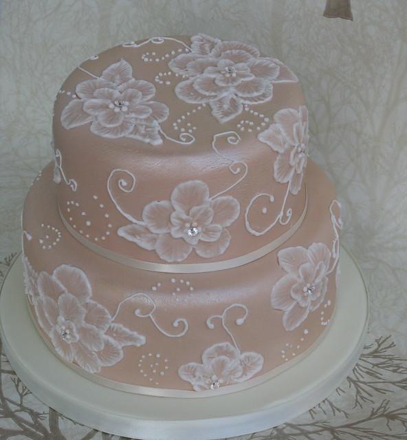 Pin Romantic Brush Embroidery Flourish Cake Designs Shawna