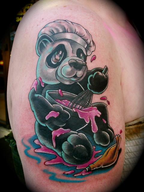 Baking Panda bear