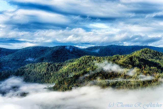 Autumn Morning Point Mountain Overlook
