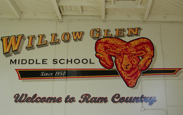 Willow Glen Middle School Gym Mural Flickr Photo Sharing