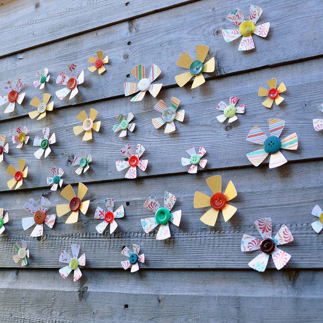 patterned 3d flower wall art decoration flickr photo