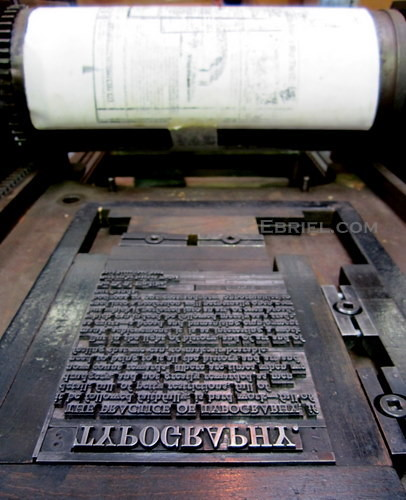 Penrith Museum of Printing: typography