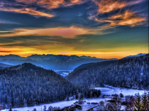 sunset montagne tramonto hdr dolomiti mendola ruffrè