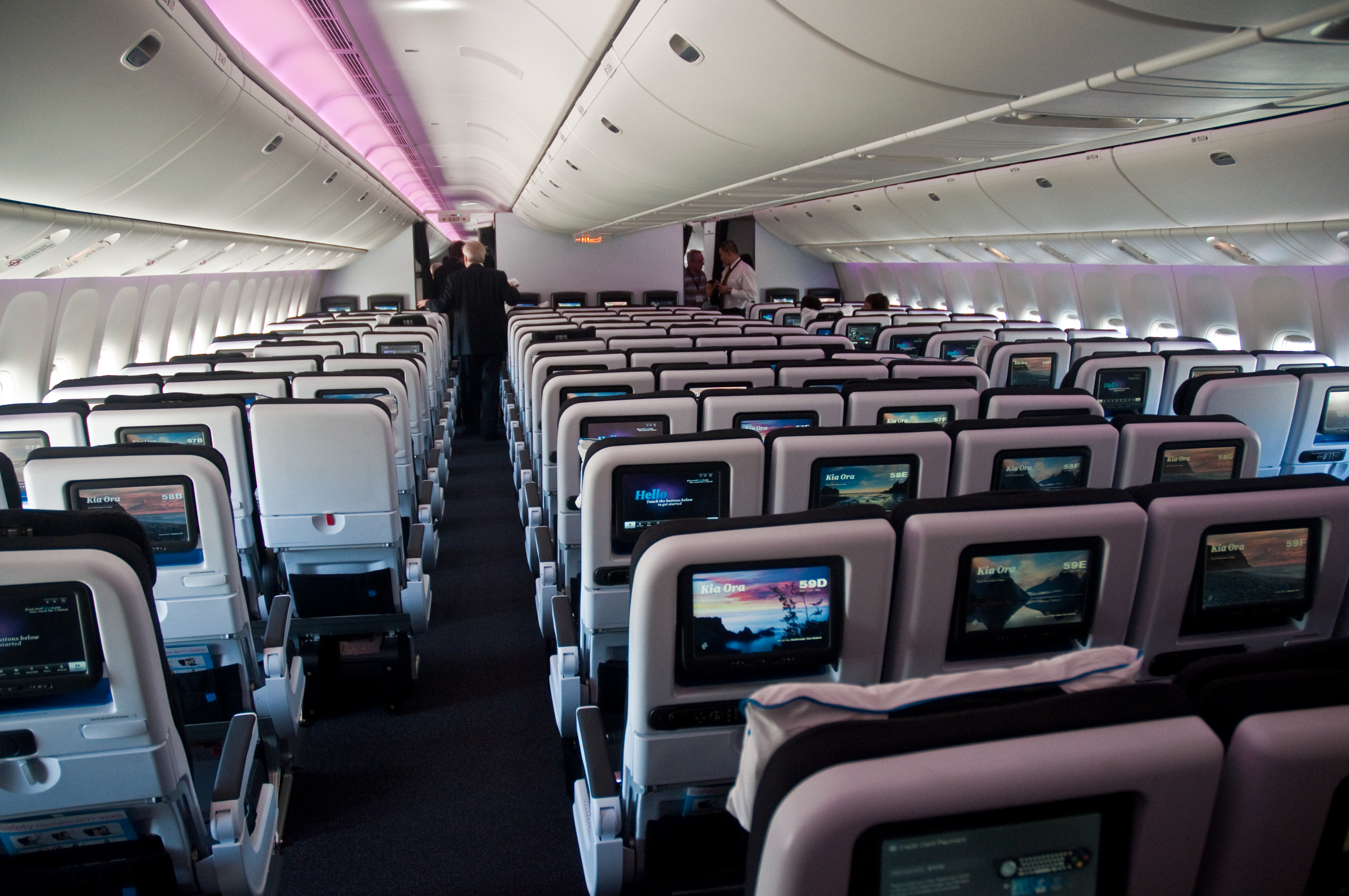 Air New Zealand S New 777 300er Interior Economy Cabin