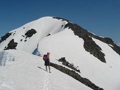 Penguin Peak summit. Chugach Mountains, Alaska