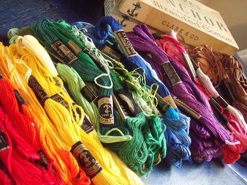 Christmas Embroidery Thread via Alicia Gallo on Flickr