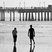 A walk on the beach Santa Monica by dykwia