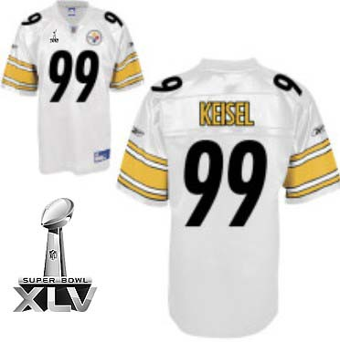 a8cda95aa08 Pittsburgh Steelers  99 Brett Keisel White Super Bowl XLV 2011 Jersey