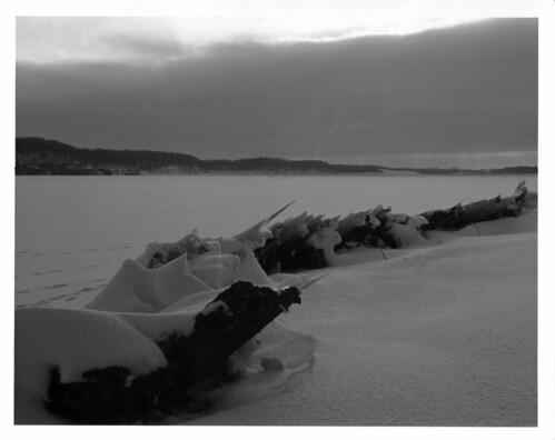sunset snow ice darkroom print twilight trix shoreline iowa xd11 pella converginglines lakeredrock dektol 58mmf14 mcrokkorpf aristapremium cordovastatepark
