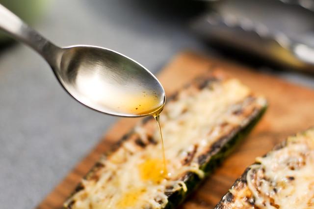 Zucchini with Parmesan and Garlic Chili Oil