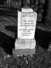 Grave of Elisabeth (Lisa) Rado (1892-1928) - Opera Soubrette