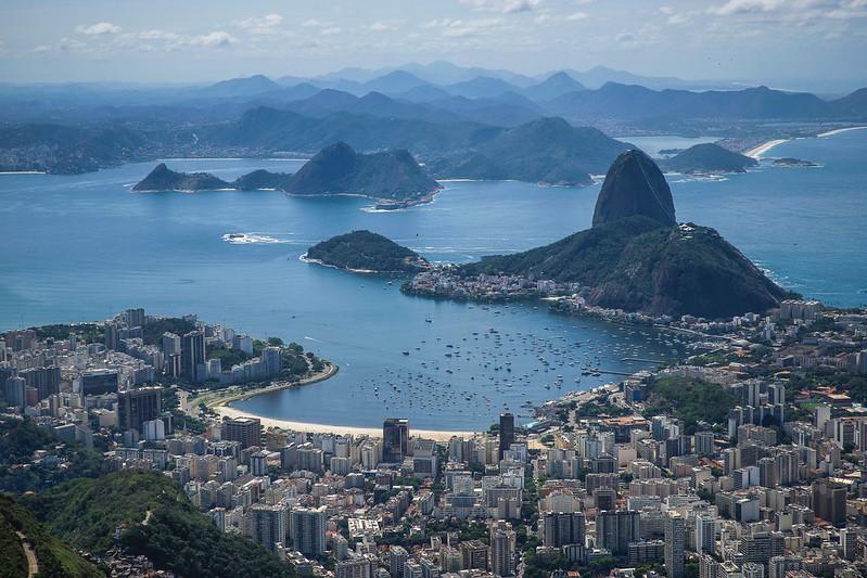 Sugar loaf mountain and city  Rio de Janeiro Brazil Brasilia