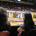 Grace Derocha guest coaches the Detroit Titans game