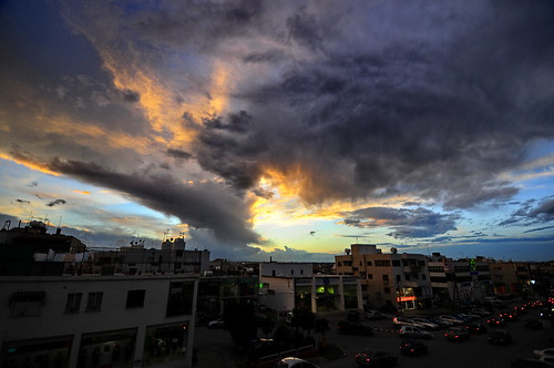 sunset storm clouds cyprus myoffice orangeyellow nicosia strovolos nikond300 varnavasthearchitect