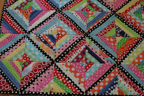 Quilt-as-you-go String Quilt