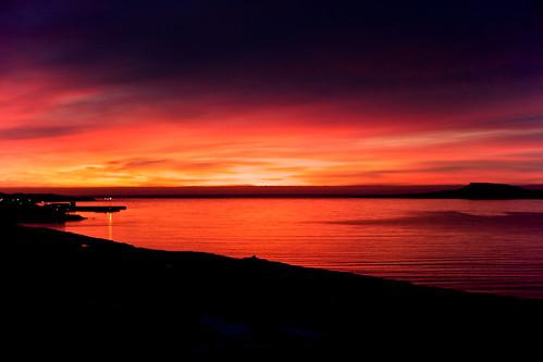 morning sea reflection clouds sunrise iceland village ísland ský hafið stöðvarfjörður speglun morgunn sólarupprás stodvarfjordur þorp kambanes jónínaguðrúnóskarsdóttir