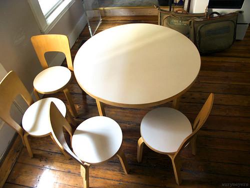 Alvar Aalto dining set.