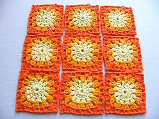 Sunshine flower blanket wip