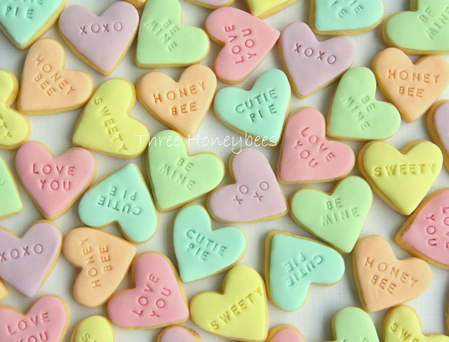 Conversation Heart Cookies | Flickr - Photo Sharing!
