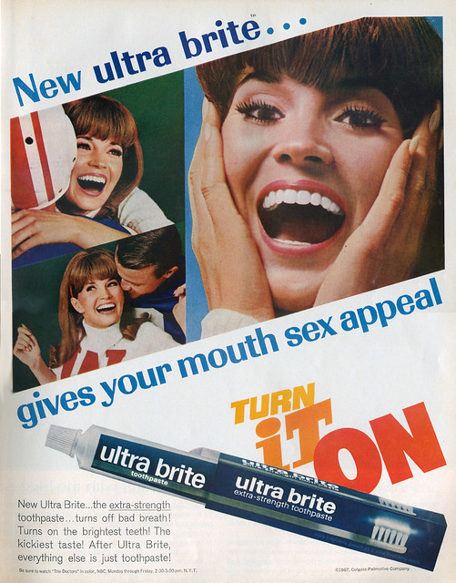 Ultra Brite toothpaste Ad 1967