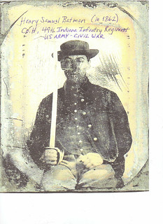 Henry S Batman - in 1862 - Co H - 49th Indiana Infantry Regiment - US Army - Civil War